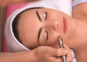 Electrolysis hair removal face